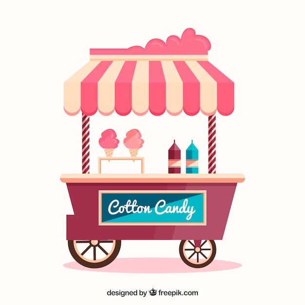 Cool cotton candy cart