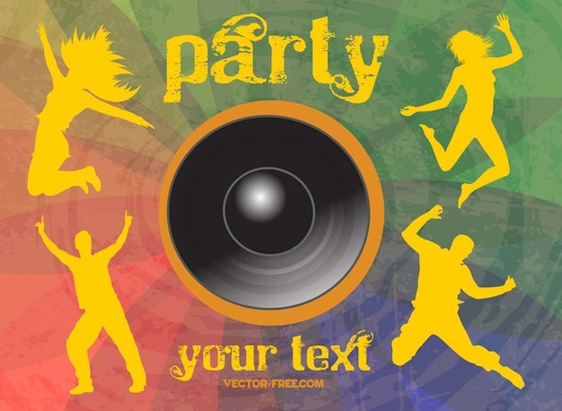 Cool dancing party event vector