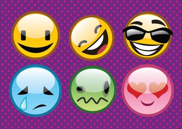 Cool Emoticons Vector Free Download