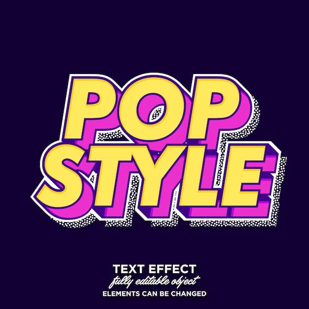 Cool fancy pop art text effect Premium Vector