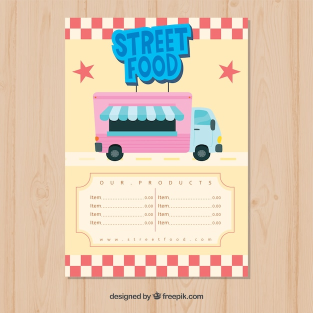 Cool food truck menu