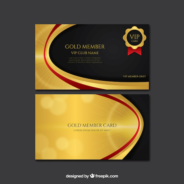 Cool golden vip cards vector free download cool golden vip cards free vector maxwellsz