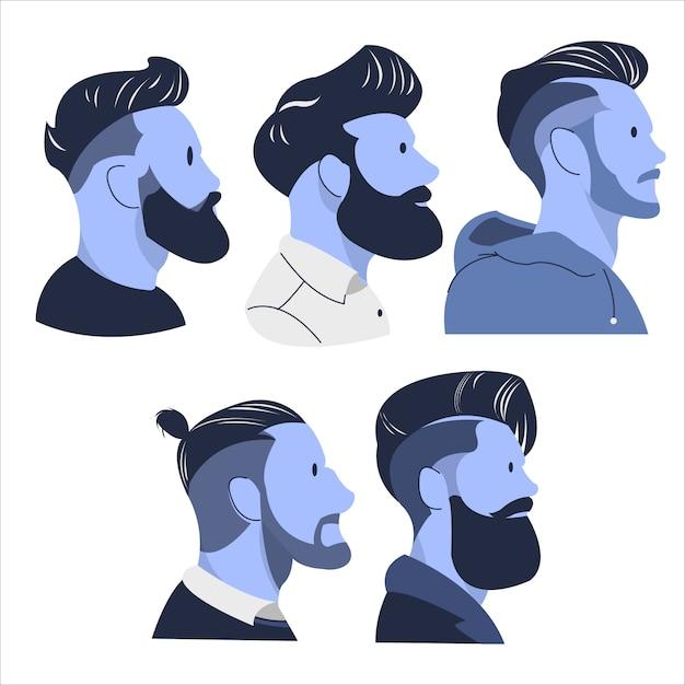 Cool man haircut trend illustration Premium Vector