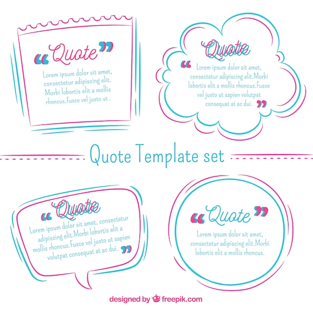 Cool modern collection of quote templates