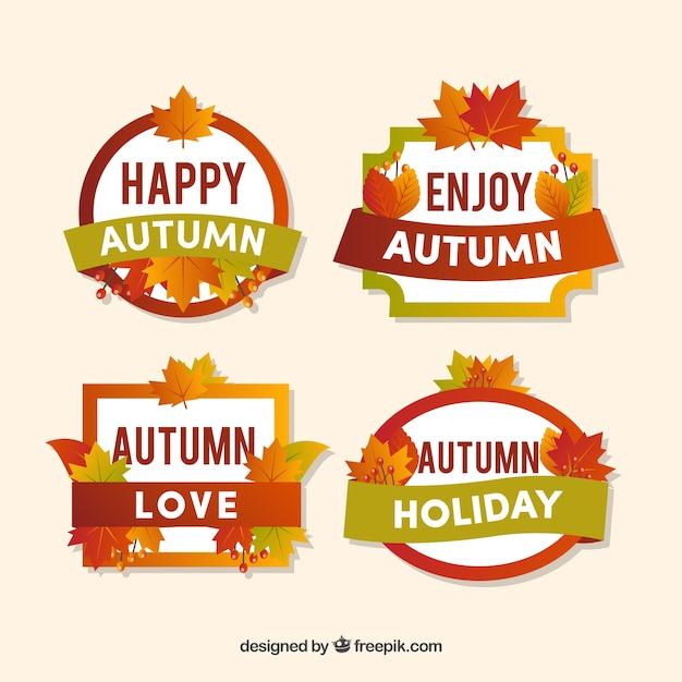 Cool pack of autumn badges