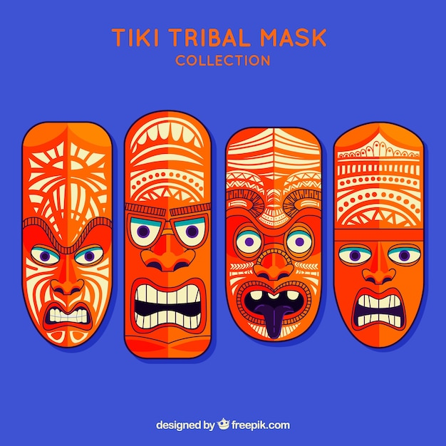 Cool pack of modern tiki masks