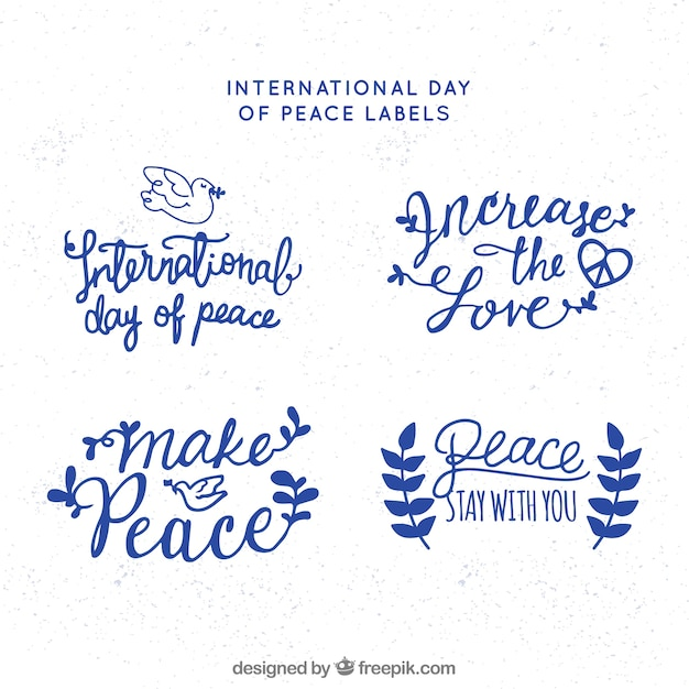 Cool pack of peace labels