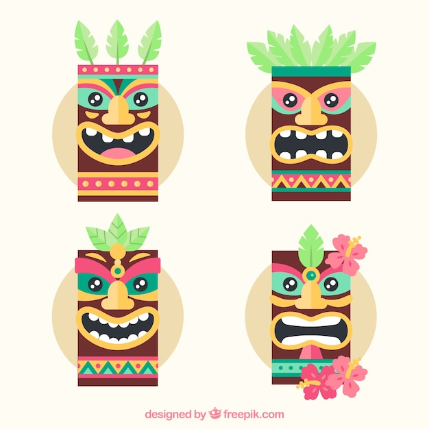 Cool pack of polynesian masks