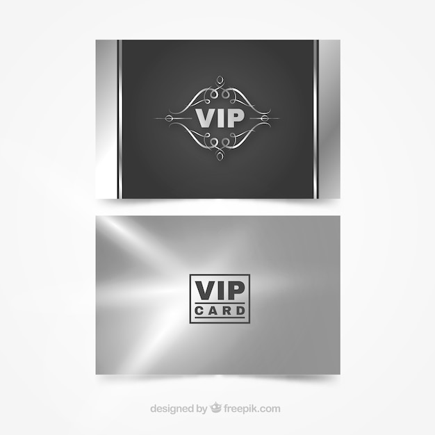 Cool pack of silver vip cards