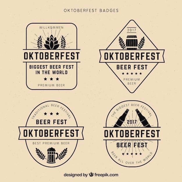 Cool pack of vintage oktoberfest badges