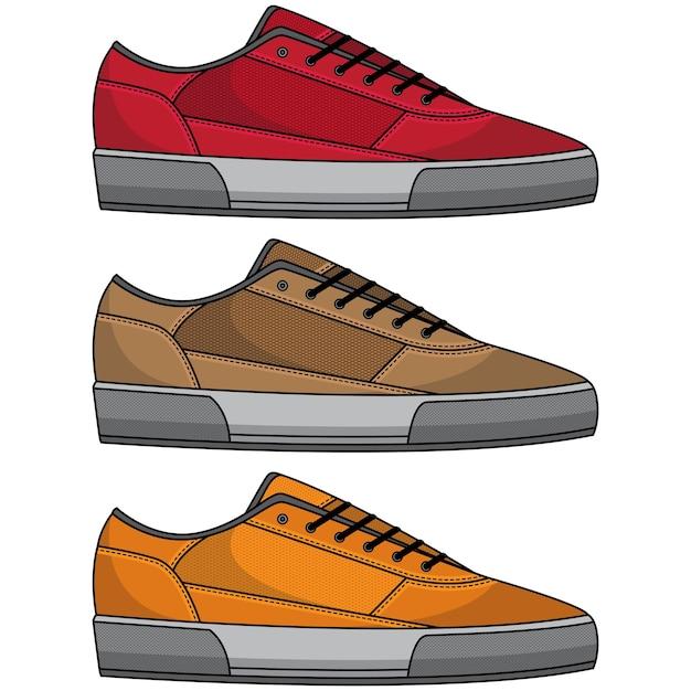 かっこいい靴セット Premiumベクター
