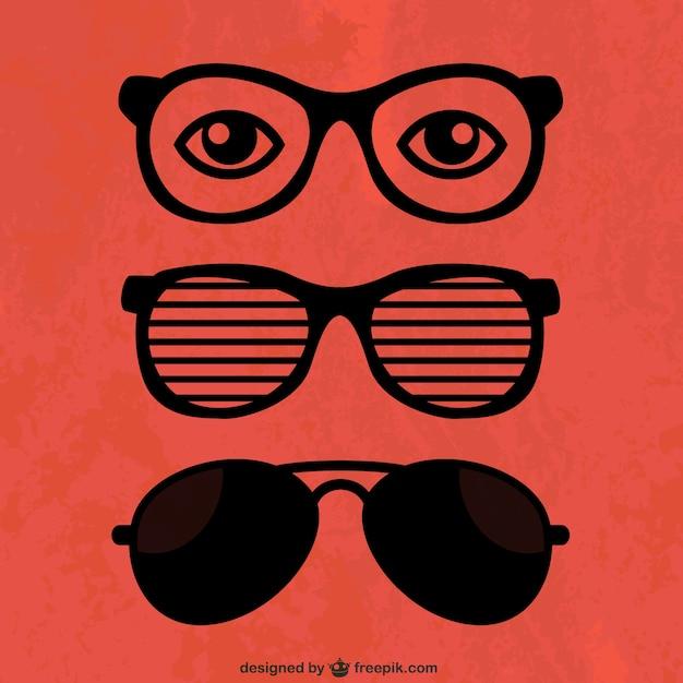 Cool sunglasses in retro design Free Vector