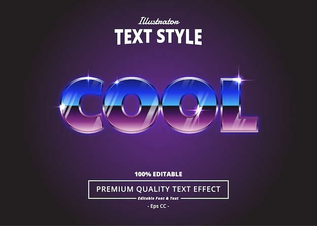 Cool text effect Premium Vector