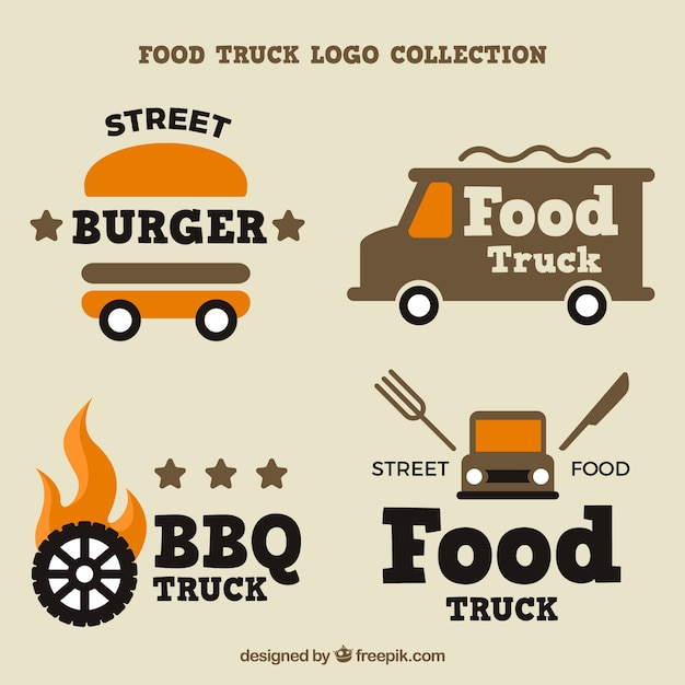 Cool variety of food truck logos