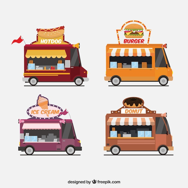 Cool variety of food trucks