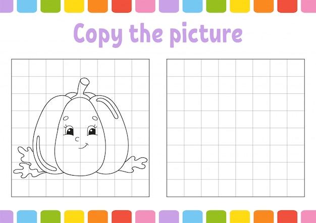 Copy the picture. Premium Vector
