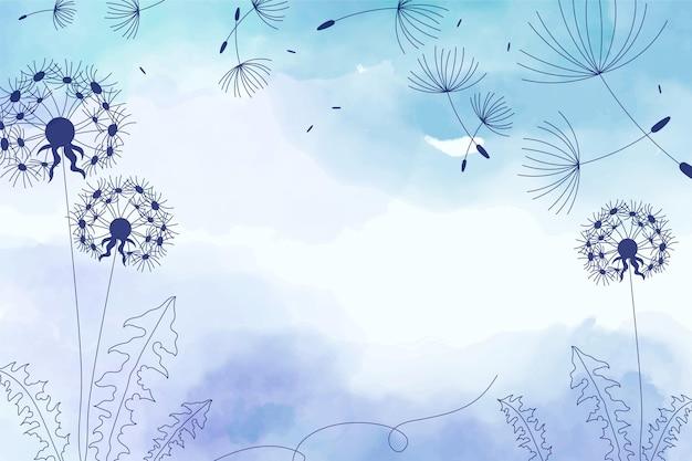 花柄のコピースペースの背景 無料ベクター