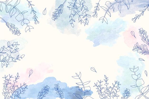 Скопируйте космический фон с цветочным дизайном Бесплатные векторы