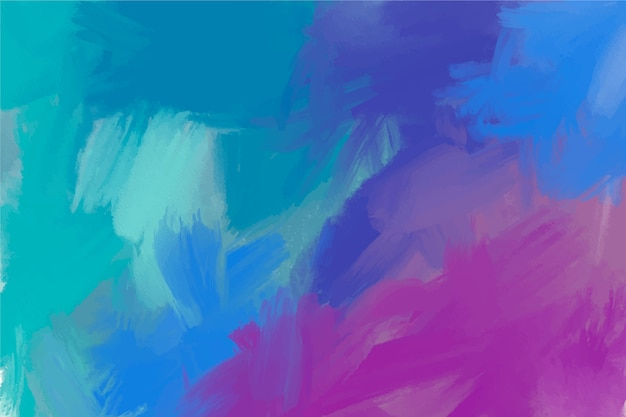 Copy space cold colours hand painted background Free Vector