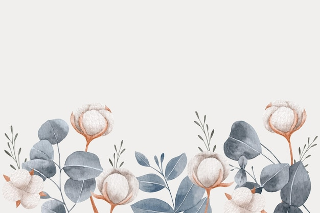 Copy space spring background and flowers Free Vector