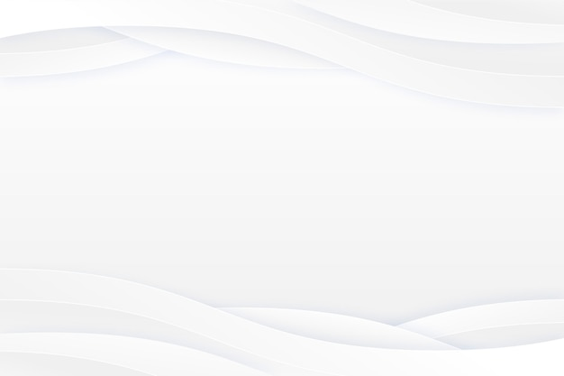 コピースペースの波状の白い背景 無料ベクター