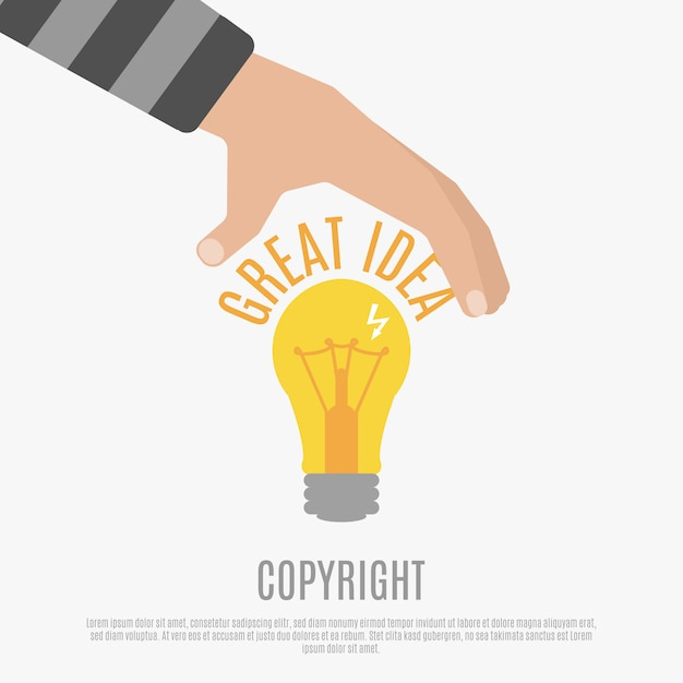 Copyright compliance concept Free Vector