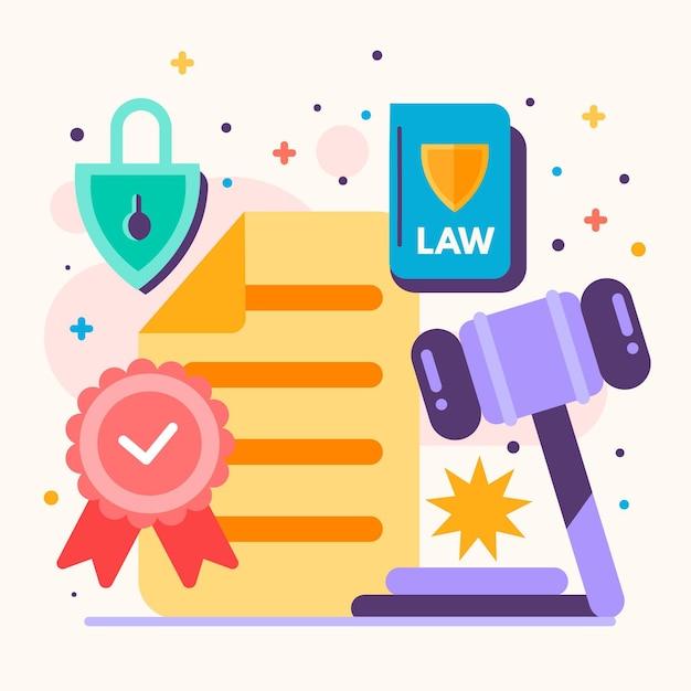 著作権特許法の図 無料ベクター