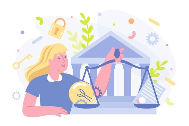 Авторское право патент выложить иллюстрацию Бесплатные векторы