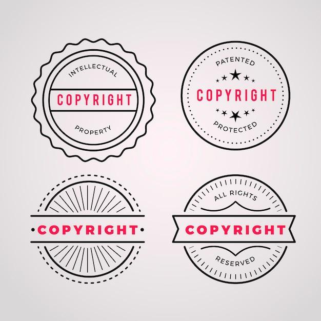 Коллекция авторских марок Бесплатные векторы