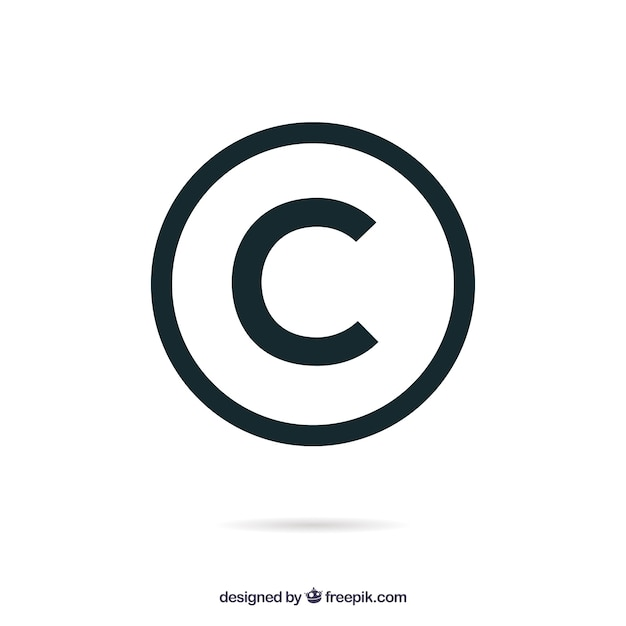Copyright: Copyright Symbol In Flat Style Vector
