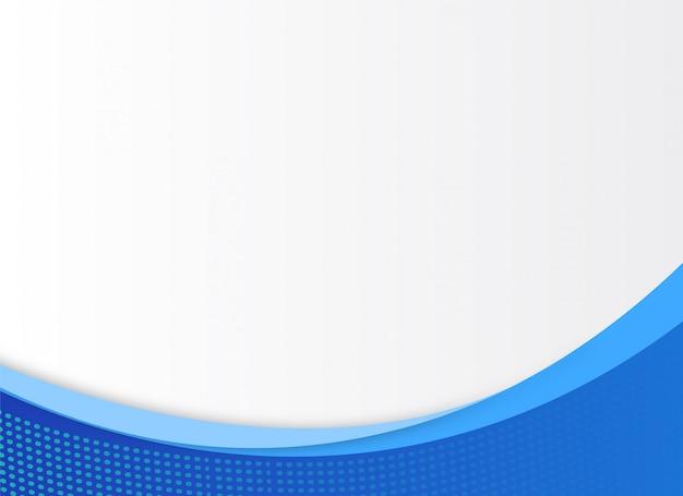 Copyspaceと青の創造的なデザイン Premiumベクター