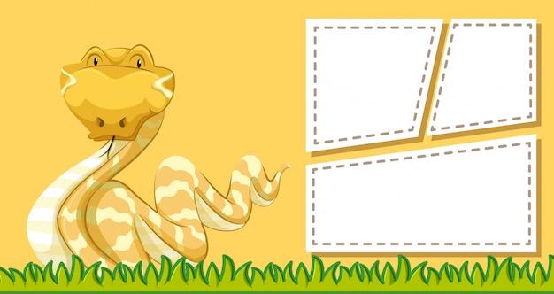 Животный кадр шаблон постер с пустым copyspace Бесплатные векторы