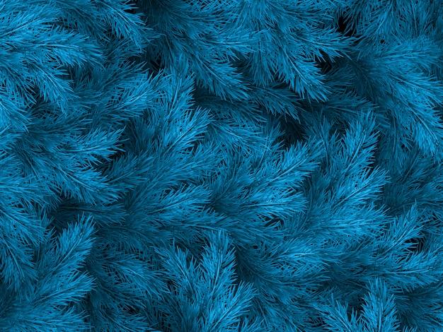 Голубые зеленые ветви ели, ели или сосны с copyspace. Premium векторы