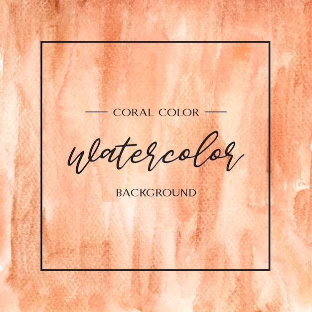 Coral color trendy sea shell watercolor and gold gouache texture background print wallpaper Free Vector