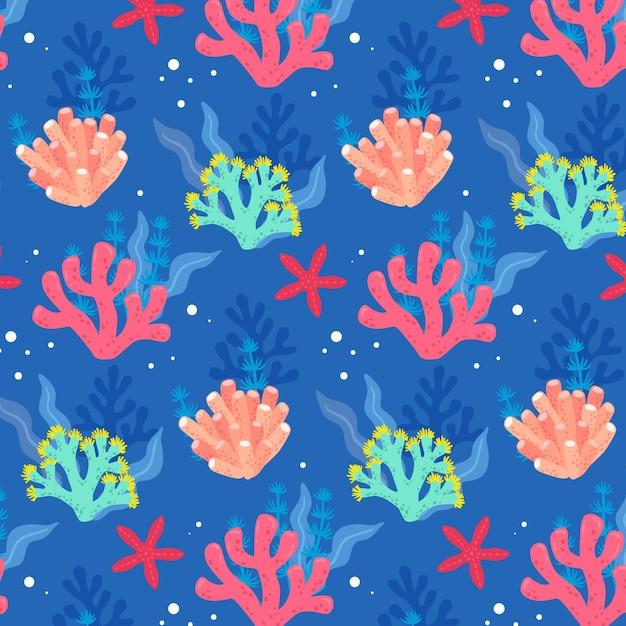Tema del modello di corallo Vettore gratuito