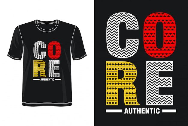 Основная типография дизайн футболки Premium векторы