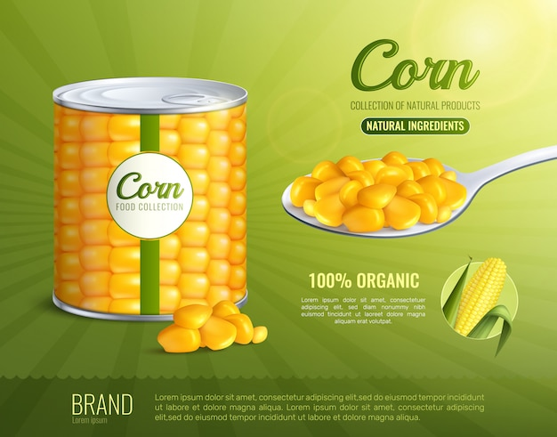 Corn advertising poster Free Vector