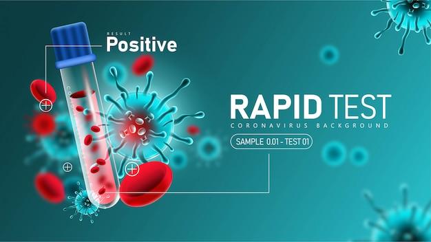 Free Vector Coronavirus 2019 Ncov Rapid Test With Positive Result