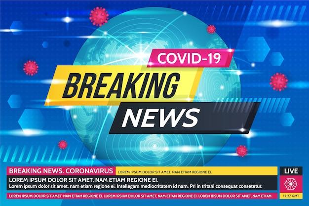 Sfondo delle ultime notizie sul coronavirus Vettore gratuito