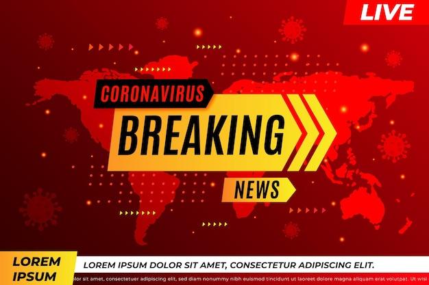 Ultime notizie sul coronavirus - sfondo Vettore gratuito