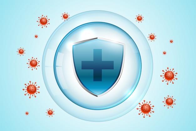의료용 코로나 바이러스 covid-19 보호 쉴드 무료 벡터