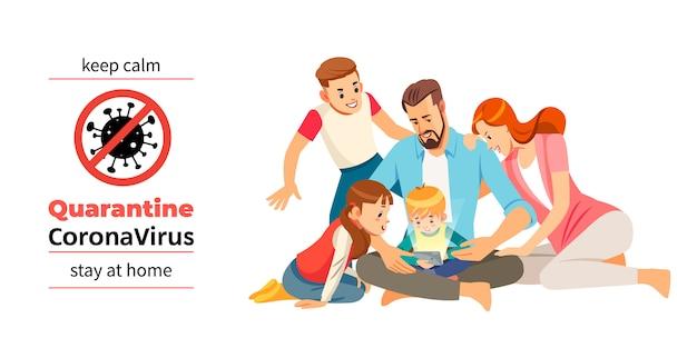 Coronavirus Covid 19 Quarantine Motivational Poster Family Of