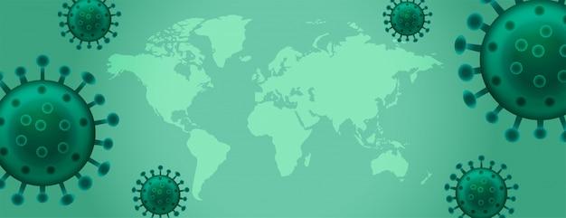 Coronavirus disease virus outbreak  banner with text space Free Vector
