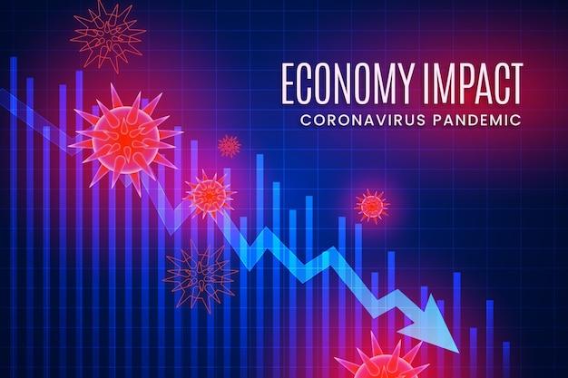 Coronavirus economy impact concept | Free Vector