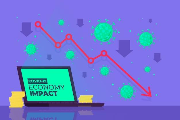 Concetto di impatto sull'economia del coronavirus Vettore gratuito