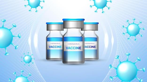 Coronavirus vaccinazione informativa concetto di fondo Vettore gratuito
