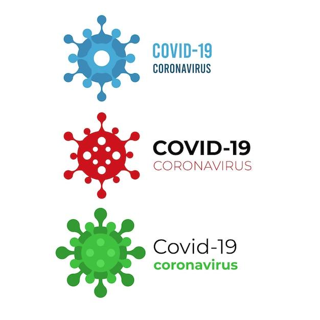 Concetto di logo di coronavirus Vettore gratuito