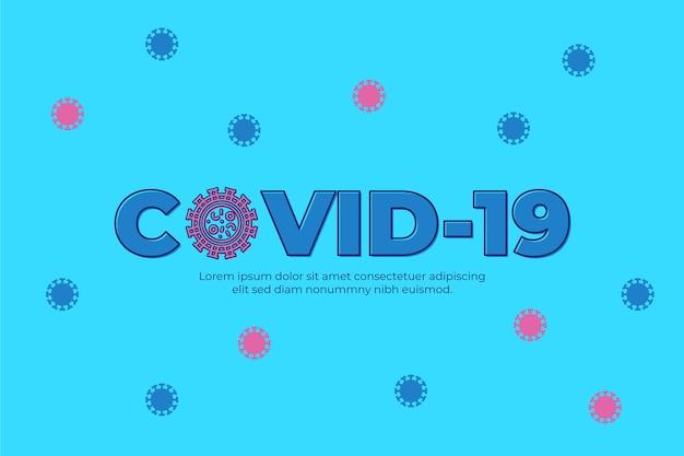 Концепция логотипа коронавирус Бесплатные векторы