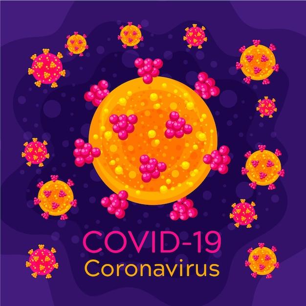 Шаблон логотипа coronavirus Бесплатные векторы