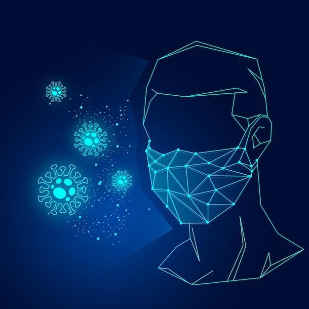 Coronavirus medical mask concept Free Vector